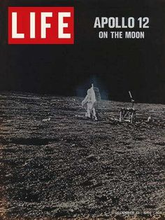 """Apollo 12 Moon walk ~ Life Magazine ~ December 12, 1969 issue ~ Click image or visit oldlifemagazines.com to purchase. Enter """"pinterest"""" at checkout for a 12% discount."""