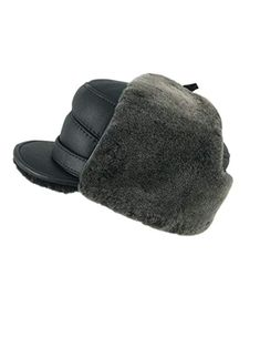 bb83f785bd075 Zavelio Men s Shearling Sheepskin Elmer Fudd Captain Visor Hat Review