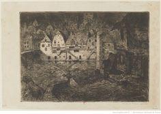 Maisons de Tanneurs, entre 1880 et 1913, eau-forte à l'encre brune (2e état), 25 x 35,5 cm, Bibliothèque Nationale de France à Paris.