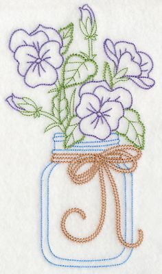 Vintage Embroidery Machine Embroidery Designs at Embroidery Library! - New This Week Embroidery Flowers Pattern, Hand Embroidery Tutorial, Embroidery Transfers, Machine Embroidery Patterns, Embroidery Applique, Cross Stitch Embroidery, Embroidery Thread, Embroidery Ideas, Flower Patterns