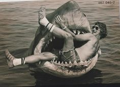 "Steven Spielberg in the jaws of ""Jaws"" 