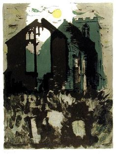 An exhibition of John Piper prints in a tiny gallery in Uppingham made me want to buy them all. Amazing colours and layered textures. Edward Hopper, John Piper Artist, Collages, Urbane Kunst, Landscape Art, Urban Landscape, Landscape Paintings, Print Artist, Urban Art