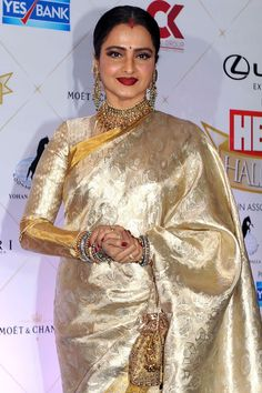 To make it easier for you, we have the top trending beautiful silk saree blouse designs so that you can choose the best for your saree look. Stylish Older Women, Older Women Fashion, Womens Fashion, 50 Fashion, Fashion Styles, Fashion Boots, Fashion Design, Beautiful Saree, Beautiful Indian Actress
