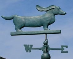 V-Tech Dachshund Weathervane 1082 - Dogs & Cats - Resin Weathervanes Dog Love, Puppy Love, Mini Dachshund, Daschund, Weenie Dogs, Doggies, Scottish Terrier, Pets, Best Dogs
