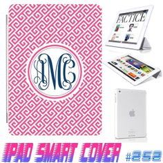 USA Custom Ipad Smart Cover Hot Pink Puzzle by GeckoDesignz, $24.99