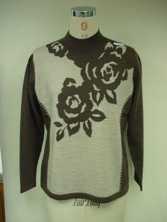 Women Intarsia Sweaters Pullover