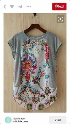 I like the colors, mix of floral + solid, and the flowy looking fit.