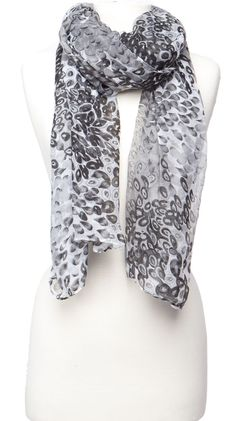 Print Scarf, Black by Violet Del Mar
