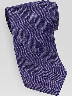 Ties, Bow Ties, Skinny Ties & Silk Ties for Men   Men's Wearhouse - Purple Herringbone