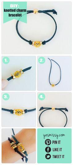 DIY Bracelets - Knotted Suede Bracelet Tutorial by julie.a.buck