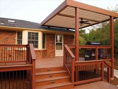 deck to patio transition ideas high deck to patio transition ideas Covered Deck Ideas On A Budget, Covered Deck Designs, Patio Deck Designs, Covered Decks, Patio Design, Patio Pergola, Deck With Pergola, Pergola Kits, Pergola Ideas