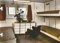 A Tourist Class cabin on the France of the Compagnie Générale Transatlantique…