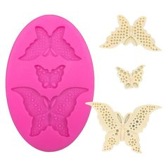 1 x Three Different Shapes of Butterfly Silicone Mold Mold Size: 6.9 cm x 10.4 cm Material: Silicone Temperature: -40° ~ +230° ★ Easy to clean ★ Food Safe, FDA Approved ★ Can be used in the refrigerat