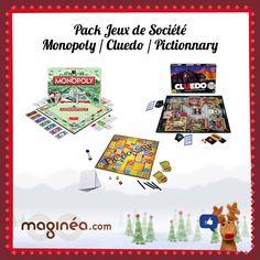 Grand jeu de Noël Maginea.com ! Vous avez voté pour : le pack Jeux en famille composé de : - Monopoly Classique de Hasbro : http://www.maginea.com/fr/fr/c2203/p201306210094/monopoly+classique+nouvelle+version/ - Cluedo de Hasbro : http://www.maginea.com/fr/fr/c2203/p201212070024/cluedo/ - Pictionnary Famille de Mattel : http://www.maginea.com/fr/fr/c2439/p201308060049/pictionary+famille/