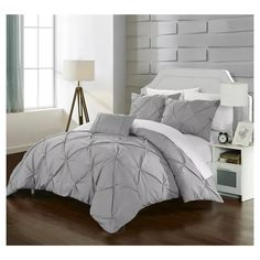 Add a touch of simple sophistication to your bedroom with the Chic Home Salvatore Duvet Cover Set. With an elegant pinch pleat design, the beautiful bedding brings timeless elegance to any room's décor.