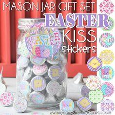 EASTER Chocolate KISS Mason Jar Tag & by mycomputerismycanvas