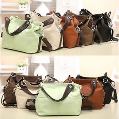 Women Ladies Leather Satchel Handbag Shoulder Messenger Crossbody Bag Tote  Purse  cf0b558eb2a