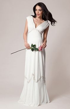 Constellation Maternity Wedding Gown (Ivory) by Tiffany Rose