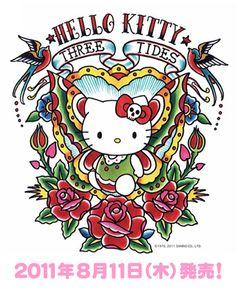 Hello Kitty + Tattoos = One badass kitty.