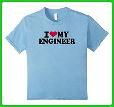 Kids I love my engineer T-Shirt 6 Baby Blue - Careers professions shirts (*Amazon Partner-Link)