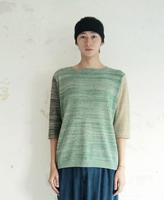 four-color knit pattern sweater