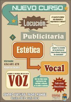 """Nuevo Curso: """"Locución Publicitaria y Estética Vocal"""""""