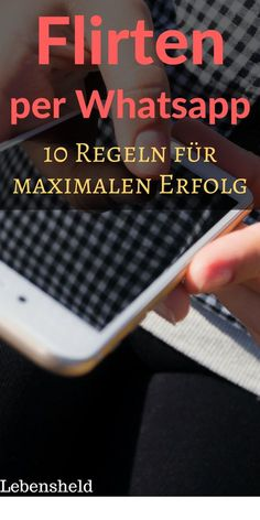 Real flirting with WhatsApp - 10 tips for maximum success- Richtig flirten per WhatsApp – 10 Tipps für maximalen Erfolg Real flirting with WhatsApp – 10 tips for maximum success - St Louis, Rap, Beginner Painting, The More You Know, Weight Loss For Women, Love And Marriage, Workout Programs, Picture Quotes, Movies