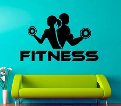 Items similar to Fitness Wall Vinyl Decal Fitness Wall Vinyl Sticker Sports Decals Fitness Club Gym Design Decor Sports Room Decor on Etsy - mari Gym Design, Logo Design, Sports Room Decor, Sports Decals, Gym Logo, Video Games For Kids, Kids Nutrition, Vinyl Wall Decals, Stickers