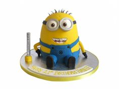 Minion from Despicable Me birthday cake