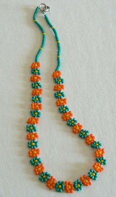 Items similar to SALE Hand Beaded Necklace Daisy Flower Chain Jewelry Handmade Summer on Etsy – DIY jewelry Seed Bead Necklace, Seed Bead Jewelry, Bead Jewellery, Jewelry Making Beads, Chain Jewelry, Seed Beads, Beaded Necklace Patterns, Beaded Necklaces, Beaded Anklets