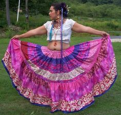 Pretty in Pink 10 yard SkirtPatchwork Tiered by ErikasChiquis