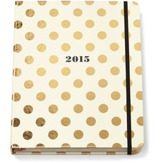 Kate Spade Large Agenda Gold Dots (€50) ❤ liked on Polyvore