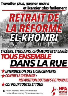 9 mars: Rassemblement à Paris - retrait de la « Loi travail »