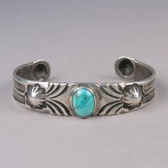 Silver bracelet with turquoise stone c. Turquoise Jewelry, Turquoise Bracelet, Silver Jewelry, Turquoise Stone, Turquoise Cuff, Silver Ring, 925 Silver, Silver Earrings, Navajo