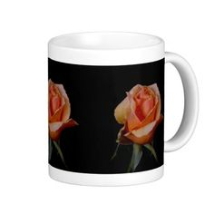 Orange Rose 3 Coffee Mug from Florals by Fred #zazzle #gift