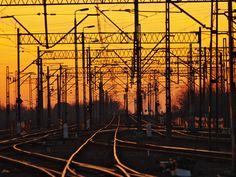 https://flic.kr/p/rWW59v | rail sunset