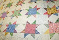 1930's stars as quilts remind me of calmer times in our country and wedding gifts in the woman's hope chest!!! Newer is not always better!