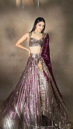 Manish Malhotra Bridal Lehenga, Indian Bridal Lehenga, Indian Bridal Outfits, Manish Malhotra Designs, Sabyasachi Bride, Indian Gowns Dresses, Indian Fashion Dresses, Indian Designer Outfits, Gala Dresses