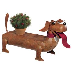 Unique Dachshund Dog Bench  ... from PetsLady.com ... The FUN site for Animal Lovers