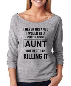 Another great find on #zulily! Gray 'Super Cool Aunt' Raglan Tee #zulilyfinds