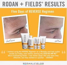 You too can have results like this.  Message me to set up your free skin consultation that will tell us what Rodan + Fields regimen is right for you.