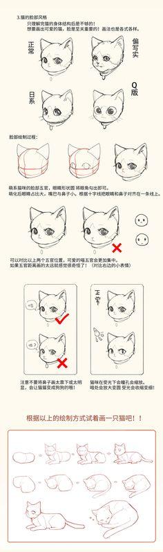 ArtStation - 激萌猫咪的绘画教程~喵喵喵 How to draw a cute kitty!, chen zhan