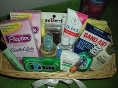 Bathroom Kit all things katie marie: wedding bathroom baskets | party and