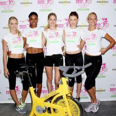 Stars Love SoulCycle! | InStyle.com Victoria's Secret supermodels, including Lindsay Ellingson and Erin Heatherton, did a spin-for-charity event to raise money for cancer research.