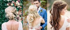 """This post could probably be aptly renamed """"We are obsessed with a good flower crown"""" but hey ho! Boho wedding hairstyles tendto have that undone, loose look. Think braids, soft curlsand waves, much texturising spray, and obviously, a flower crown … Continued"""