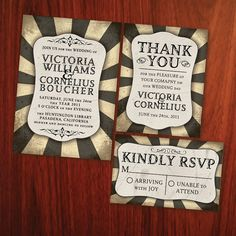 Printable Steampunk Wedding Set  See Shop by KwirkCreative on Etsy,