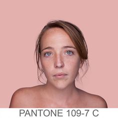 Humanae, A Chromatic Inventory of Complexions Using Pantone Colors