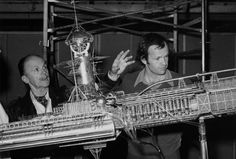 Original Miniature - U.S.S. Cygnus with Peter and Harrison Ellenshaw.