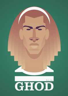 Ghod - Henrik Larsson Print by Stanley Chow stanleychowsoccer. Retro Football, Football Art, Football Players, Football Pictures, Sports Pictures, Stanley Chow, Old Firm, The Good Son, Soccer Art
