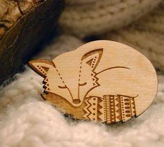 Wooden Hipster Fox